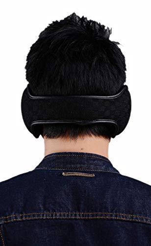 Ear Warmers For Men Women Foldable Fleece Unisex Winter Warm Earmuffs Outdoor Skiing,Biking (Black)