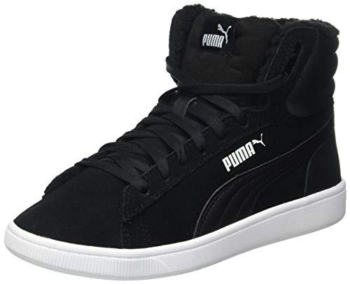 PUMA Vikky v2 Mid Fur Jr, Sneaker, Nero Black White, 35.5 EU