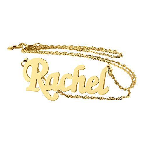 Personalized Name Necklace 14k Gold Dainty Small Size Pendant Charm. (16)