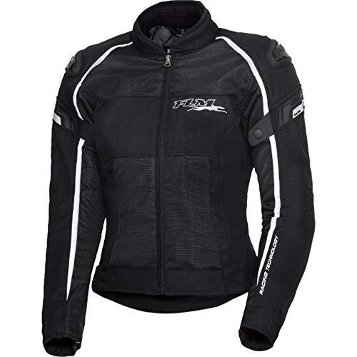 FLM Motorradjacke mit Protektoren Motorrad Jacke Sports Damen Textil Jacke 1.2 schwarz M, Sportler, Ganzjährig