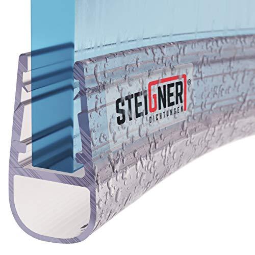 STEIGNER Duschdichtung, 80cm, Glasstärke 6/7/ 8 mm, Vorgebogene PVC Ersatzdichtung für Runddusche, UK07