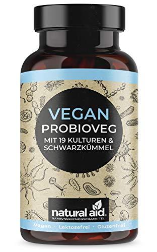 Vegan ProbioVeg - 19 Bakterienkulturen + Schwarzkümmel, 90 Kapseln (3 Monats-Vorrat)