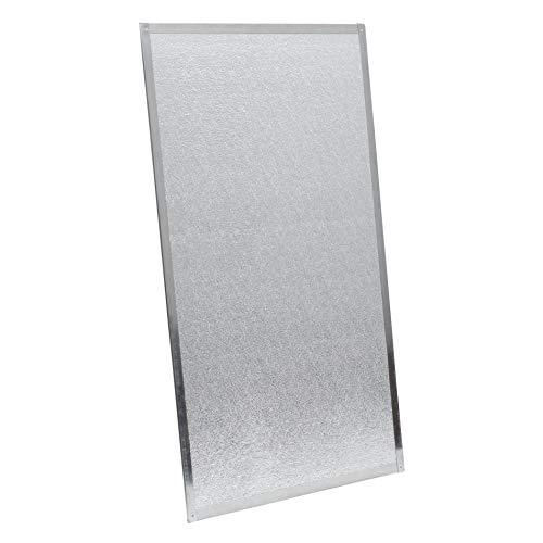 Kamino-Flam Hitzeschutzplatte asbestfrei - Funkenschutzplatte 1100°C hitzebeständig - Wärmeschutzplatte mit Edelstahlrahmen - 800 x 500 x 3 mm