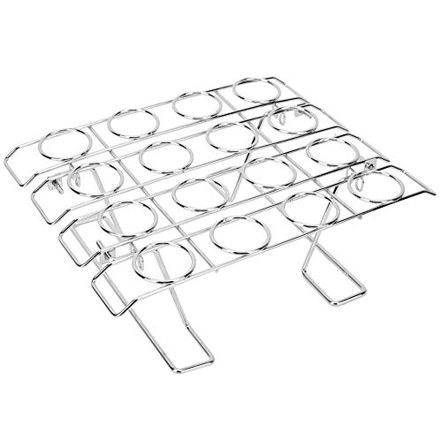 16 Slots Stainless Steel Ice Cream Display Rack Cupcake Cone Baking Rack Folding Cooling Rack Holder for Baking Cake Cupcake