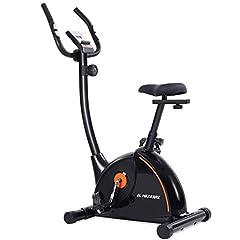 MaxKare home bike ergometer home trainer met magnetische weerstand aanpassing, 4-voudig verstelbare zithoogten, LCD-display, fles en tablet houder, gebruikersgewicht tot 100kg *