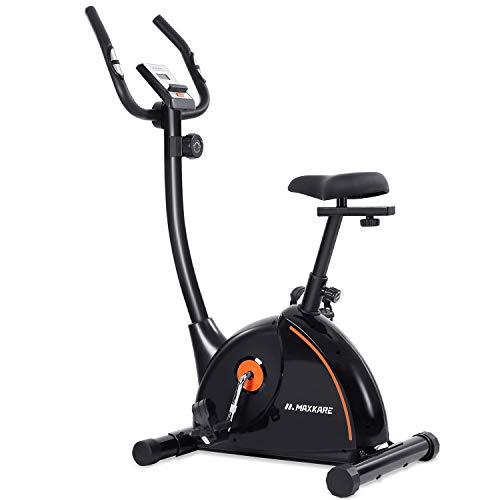 MaxKare Heimtrainer Fahrrad Ergometer Hometrainer mit Magnetwiderstandseinstellung,4-Fach einstellbare Sitzhöhen, LCD-Anzeige, Flasche- und Tabletshalter, Benutzergewicht bis 100kg