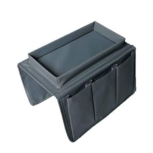 guomao 2-en-1 Sofá Apoyabrazos Organizador Sofá Silla Caddy Organizador Soporte Hogar Ahorro de espacio Bolsa de almacenamiento Control remoto Soporte de almacenamiento(Color:gris)