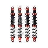 Que-T 4pcs Metal Shock Absorber Damper for 1/10 RC Crawler Car SCX10 D90 TRX4 TRX6 (105mm)