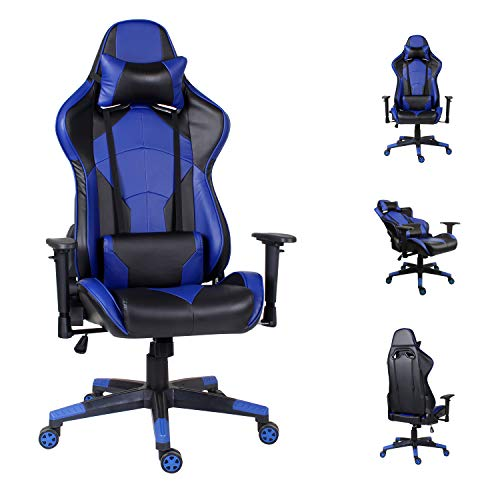 EUCO Computer chair,Racing Style Gaming Chair High Back Executive Office Chair Reclining PC Chair with Adjustable Armrest and Lumbar Support Well Padded Ergonomics Desk Chair