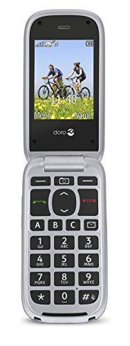 Doro PhoneEasy 613 Mobiltelefon im eleganten Klappdesign (2 Megapixel Kamera, große Tasten & Bildschirm, Notruftaste) silber