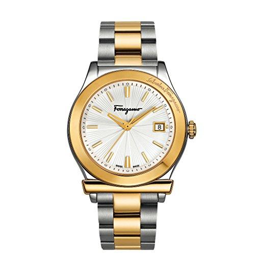 Salvatore Ferragamo Reloj Análogo clásico para Hombre de Cuarzo con Correa en Acero Inoxidable FF3070014