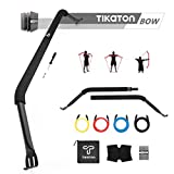 Tikaton Bow Portable Home Gym Resistance Band System Heavy Set, Weightlifting and HIIT Interval Training Kit, Full Body Workout Equipment