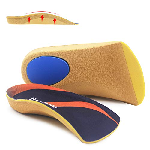 Arch Support Shoe Insert, RooRuns 3/4 Plantar Fasciitis Inserts High Arch Support Insoles with Metatarsal Pads, Orthotic Inserts for Flat Feet, Overpronation