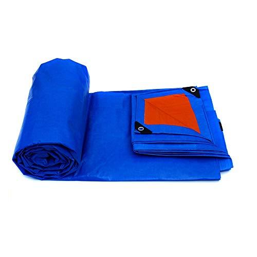 QFFL Tarpaulin ,175g/ M² Waterproof Tarpaulin Ground Sheet Covers For Garden Furniture Contractors, Campers, Painters, Farmers, Boats, Motorcycles, Hay Bales-Blue tarpaulin (Size : 7x5m)