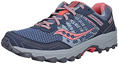 Saucony Women's Grid Excursion TR12 Sneaker, Grey/Pink, 8.5 M US