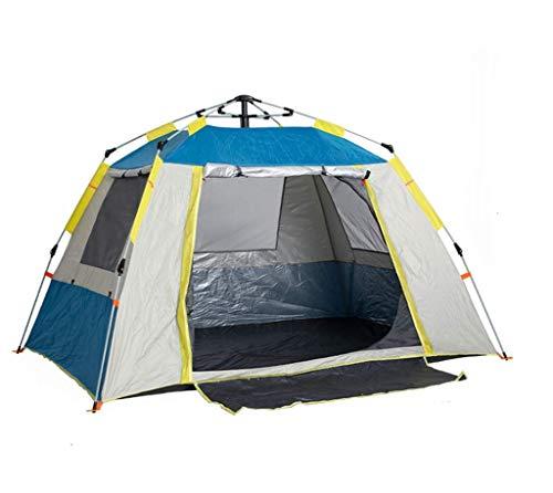 Floving Ourdoor 3-4 Personas cosiendo Engrosamiento Campo de Acampada Lluvia automática Senderismo Tienda de campaña Bolsa de Transporte Carpa (Blue)