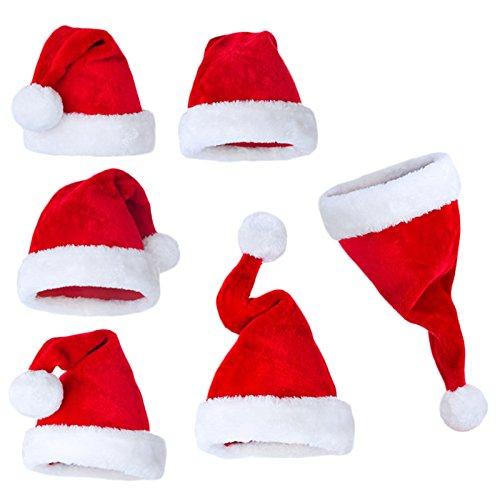 Sundautumn Chapeau de Noël Bonnet Père Noël pour Adulte/Enfant Pas Cher