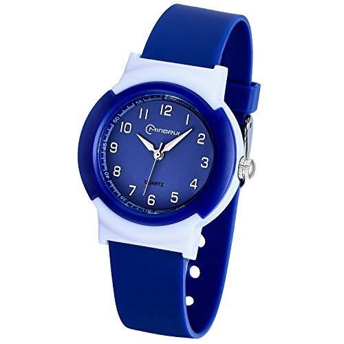 Reloj para niños para niñas, niños, analógico, resistente al agua, reloj de pulsera para niños con tiempo de aprendizaje, fácil de leer, reloj de pulsera para niños como regalo