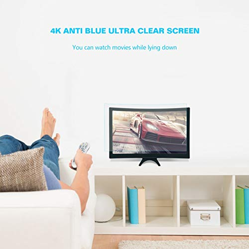 CLJ-LJ 12-Zoll-Faltbarer Amplifier Lupe 3D-HD-Kurven-Mobile-Handy Movie Video Screen Amplifier Lupe for Home Use