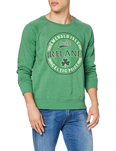 Traditional Craft Herren T5065 Pullover, Green, X-Large