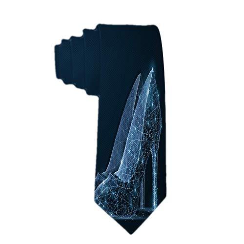 Web--ster Clásico Corbata para hombre Zapato de mujer Zapato poligonal de tacón alto para mujer en azul oscuro con estrellas Corbata Corbatas para el cuello
