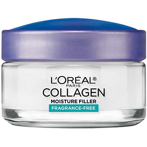 41MTUvG4XGL - Collagen Face Moisturizer by L'Oreal Paris Skin Care, Day and Night Cream Fragrance Free, Anti-Aging Face, Neck and Chest Cream to smooth skin and reduce wrinkles, 1.7 oz