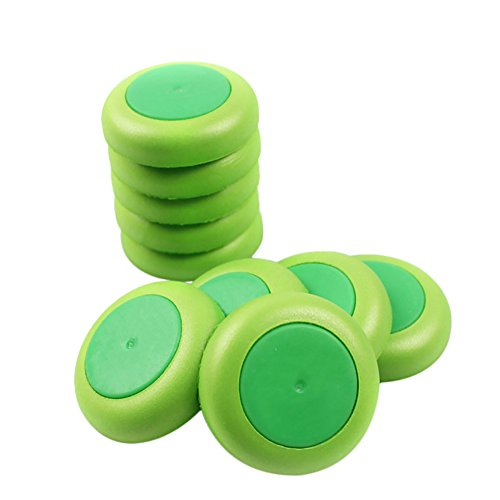 Dapei Mini Foam UFO 50Pcs, Fliegende Scheibe, Fliegende Untertasse Disc Spielzeug, Ersatzteile Für Nerf Vortex Blaster Praxis Nitron Vigilon Proton, Erwachsene Indoor- und Outdoor-Aktivitäten (Grün)
