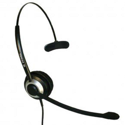 Imtradex BasicLine TM Headset monaural/einohrig für Auerswald ComFortel 1100 Telefon, kabelgebunden mit NC, ASP und QD-Stecker