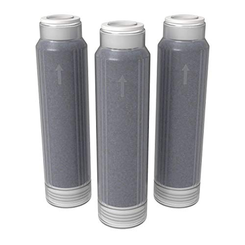 AQUATICLIFE Reverse Osmosis 10-Inch Mixed-Bed Color Changing Deionization Resin Filter Cartridge for RO/DI System Units, 3-Pack
