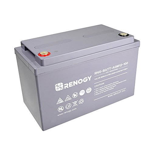 Renogy Deep Cycle AGM Battery 12 Volt 100Ah for RV, Solar Marine and Off-grid...