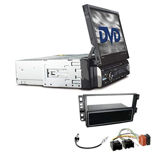 Caliber RDD571BT 1-DIN Autoradio Einbauset ausfahrbarer Monitor passend für Chevrolet Captiva ab 2006 schwarz