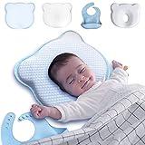Almohada Plagiocefalia y Antireflujo para la Cabeza del Bebe de 1 Año - Cojín Antivuelco Bebe para Cuna de Viaje -...