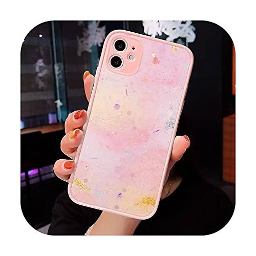 Moda caramelo colorido patrón teléfono caso mate transparente para iPhone 7 8 11 12 s Mini pro X XS XR MAX Plus cubierta funda-a10-iPhoneXs max