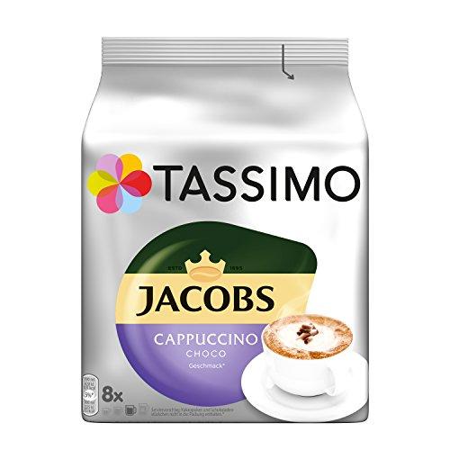Tassimo Kapseln Jacobs Cappuccino Choco, 40 Kaffeekapseln, 5er Pack, 5 x 8 Getränke