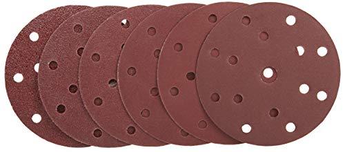 Wabrasive Schleifscheiben 150mm Klett 60 Stük - Körnung 10x 40/60/80/120/180/240 | ø 150mm Exzenterschleifer Schleifpapier Set für Holz Metal Plastik
