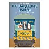 LWJPD Cuadro sobre Lienzo 50x70cm Sin Marco Wes Anderson Movie The Darjeeling Limited Poster Lienzo Pintura Baño Pared Arte Impresión Oficina Bar