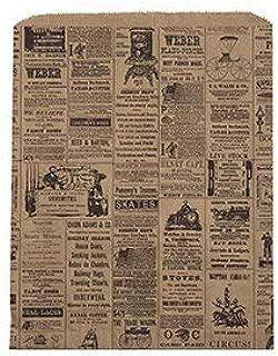 "SSWBasics Large Newsprint Paper Merchandise Bags - 12""W x 15""H - Case of 500"