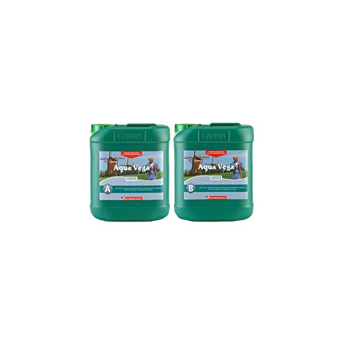 5 Liter - Aqua Vega - Part A and B - Veg Nutrient - Developed For Recirculating Systems - CANNA 9520005