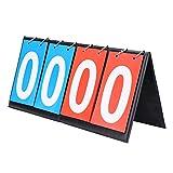 OhhGo Marcador de puntaje, Deportes Tablero de Mesa Marcador portátil Plegable Flipper de puntuación para Interior al Aire Libre Baloncesto fútbol béisbol
