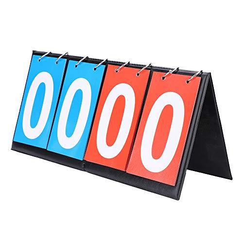 OhhGo Anzeigetafel Falte Sporttischplatte Anzeigetafel Kerbe Keeper 2/4 Digit für Indoor Outdoor Basketball Fußball Baseball