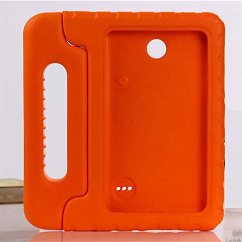 QiuKui Tab Funda para Samsung Galaxy Tab 4 7.0 Pulgadas T230 T231, Cuerpo Completo DE Mano NIÑOS NIÑOS Safe Table Tabla DE Tabla DE EVA para Samsung Galaxy Tab 4 7.0 Pulgada (Color : Orange)