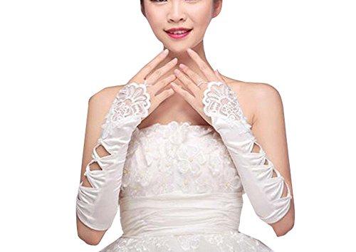 Gants de mariage blanc élégant mariée gants pour les femmes