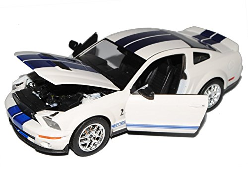 Ford Mustang Shelby Gt-500 Gt500 Weiss White 2007 1/24 Welly Modellauto Modell Auto