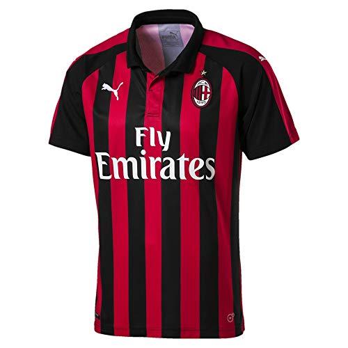 PUMA AC Milan Temporada 2020/21-HOME Shirt Replica SS with Sponsor Logo Camiseta...