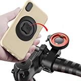 sincetop Bike Phone Mount for Motorcycle,Universal Mountain Bike Handlebars Cellphone Holder Aluminum Metal Quick Mount Bracket for MTB ATV Scooter GPS Navigation Stand for iPhone 12 Samsung Google