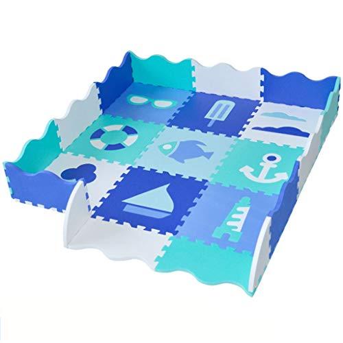 Colchoneta de Juegos para bebés cercada: Valla de Seguridad para bebés, Grande y Gruesa (0.55 pulg.) Adecuada para la Sala de Juegos para bebés y alfombras de crianza para bebés