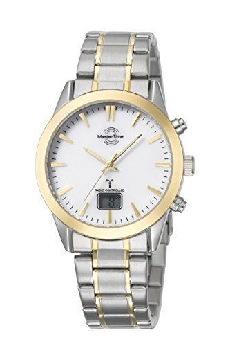 Master Time Funk Quarz Herren Uhr Analog-Digital mit Edelstahl Armband MTGS-10318-12M