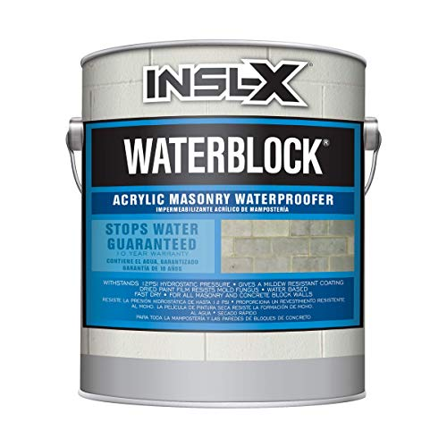 INSL-X AMW100009A-01 WaterBlock Acrylic Masonry Waterproofer Paint, 1 Gallon, White