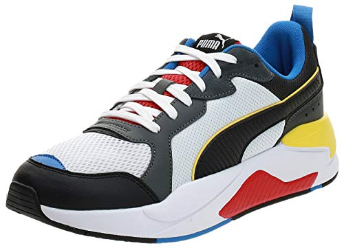 PUMA X-Ray, Zapatillas Unisex Adulto, Blanco White Black/Dark Shadow/High Risk Red/Palace Blue, 44 EU