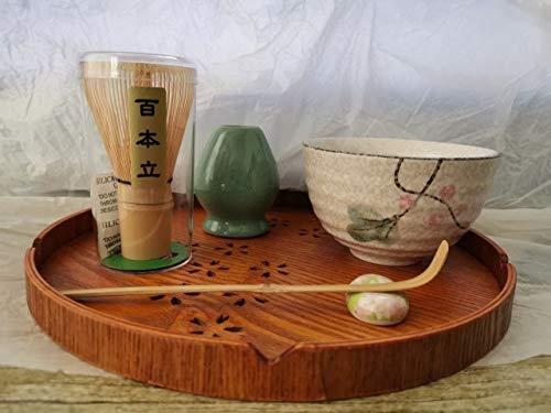 LINWX Juego de té con Cepillo de bambú Matcha japonés, Juego de té japonés, Accesorios para té, Herramientas para Tazas de té de Kung Fu